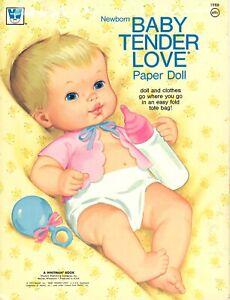 VINTAGE UNCUT 1973 BABY TENDER LOVE PAPER DOLLS ORG SZ LASER REPRO NO1 SELLER