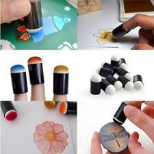 10pcs Finger Sponge Case Daubers Painting Ink Stamping Chalk Reborn Art Tools S
