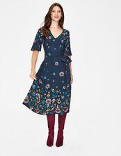 BODEN  NWT Emilie Midi Dress - Navy Floral - UK 10 R - 2018/19 - W0235