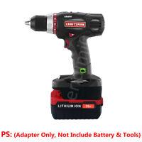 1x PORTER-CABLE 20V PCC685L/680L Li-ion Battery to CRAFTSMAN 19.2V Tools Adapter