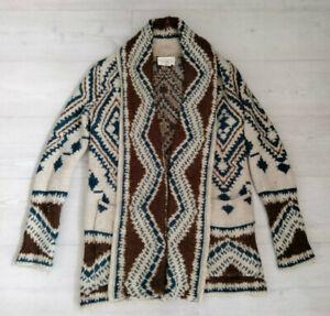 Women's RL Denim & Supply Fair Isle Chunky-Knit Cardigan - Size Small