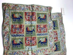 "FEL 2 Piece Indian Handmade Jaipur Cotton Pillow Case 17.5"" elephant"
