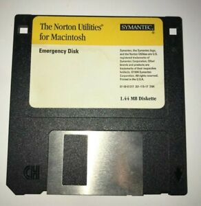 "Norton UTILITIES for Macintosh ~ 3.5"" NDD  1.44mb Emergency Disk 7/94"