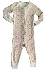 Hanna Andersson Girls Pajamas 80 cm 18-24 Months Zipper 1 Piece Organic Cotton