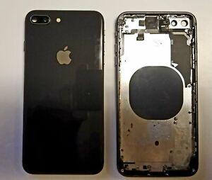 OEM Apple iPhone 8 Plus full back housing frame rear chasis glass ( grey )