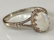 BEAUTIFUL VINTAGE OPAL STERLING SILVER RING