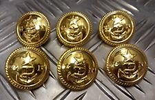 Genuine Ghana Issue Navy GN Buttons Jacket, Blazer & Greatcoat X6 Anchor V929