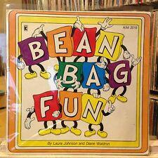 [CHILDREN/KIDDIE BREAKS]~EXC LP~BEAN BAG FUN~(LAURA JOHNSON)~{1976 KIMBO}~w/BOOK