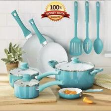 COOKWARE SET POTS PANS Dutch Oven 12 Piece Kitchen Cooking Ware Nonstick Ceramic