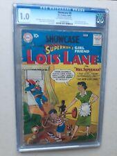 SHOWCASE #9 CGC 1.0 1ST SOLO LOIS LANE 1957 DC presents superman`s girl friend