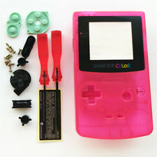 Clear Pink Housing Shell Case For Nintendo Game Boy Color GBC Gameboy Color