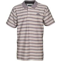 MEN'S WEIRD FISH FROST GREY, TEXTURED STRIPE POLO SHIRT, SIZE SMALL