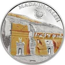 Palau 2013 5$ World of Wonders VIII MADA'IN SALEH Saudi Arabia Proof Silver Coin