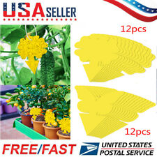 Yellow Sticky Traps Flying Plant Insect Glue Catcher for Aphids Gnats Whiteflies