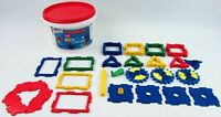 Mini Polydron Revolution Construction Shapes Set Clip Together Gears Colours