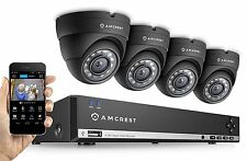 Amcrest 960H 4CH Video Security System 500GB 4 Hd 800+ Tvl Dome Cameras