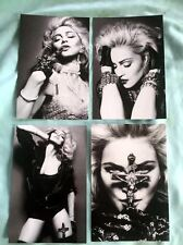 MADONNA set of 4 postcards 4x6 2012 (blonde ambition, sex book, like a Prayer +
