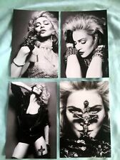 MADONNA set of 4 postcards 4x6 2012 (blonde ambition, sex book, like a Prayer +