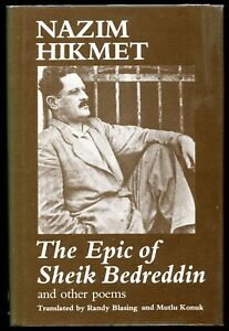 Nazim Hikmet: The Epic of Sheik Bedreddin and other poems. 1st edition, NY 1977.