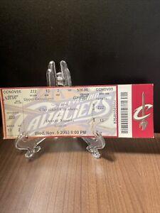 Cleveland Cavaliers Ticket Unused Vintage Lebron James Home Opener Nov 5 2003