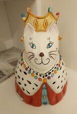 queen kitty cat Clay Art Ceramic Cookie Jar 2004