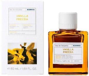 Korres Eau De Toilette Vanilla Freesia Women's Perfume 88% Natural Content 50ml
