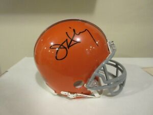 Riddell Jay Hilgenberg Signed/Auto Cleveland Browns Mini Helmet with COA/Photo
