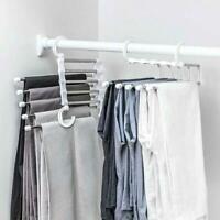 Pants rack shelves 5 in 1 Stainless Steel Multi-functional Wardrobe Magic Hanger