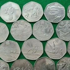 More details for 50p coins coin hunt-olympic,beatrix,kew,football,judo,wrestling,triathlon,rowing