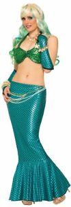 Womens Adult Blue MERMAID TAIL SKIRT Costume Accessory