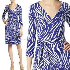 DVF New JulianTwo Stretch Wrap Dress In Tiger Shadow US sz 0  $398