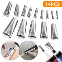 14Pcs Finisher Caulking Nozzle Kitchen Push Rod Stainless Steel Applicator Tools