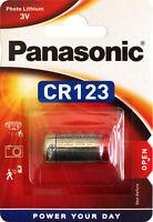 10x Panasonic Lithium Power Photo Batterie 3V CR123 1400 mAh CR-123AL 10x1er Bl.