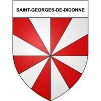 Saint-Georges-de-Didonne 17 ville Stickers blason autocollant adhésif