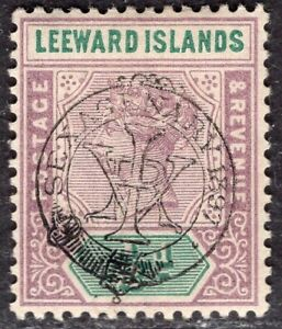 LEEWARD 1897 STAMP Sc. # 9 MH
