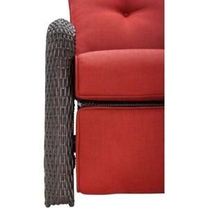 Outdoor Reclining Chair 17 in. x 21 in. Weather Resistant Olefin Crimson Red