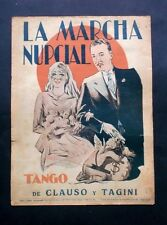 """Music sheet - the """"Marcha"""" Nupcial-Tango for plan-clauso Y Tangini"""