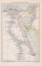 ALTE ÄGYPTEN Arabia Petraea Heptanomi LANDKARTE von 1882 Thebais Aethopia