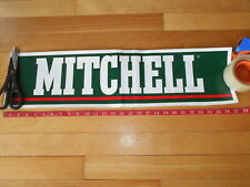 Vintage Fishing Store Display Sticker Sign, Mitchell Very Nice gas oil lures