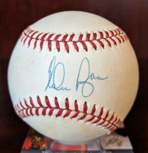 Nolan Ryan Signed Autographed OML Baseball K King Astros HOF JSA Cert With Cube