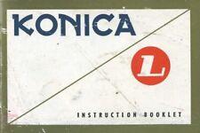 Konica L Instruction Manual Original