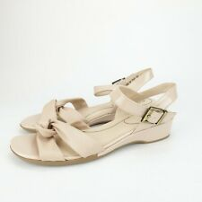 LifeStride Womens Monaco Soft Taupe Ankle Strap Heels Wedge Sandals Size 10 M