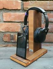 HeSy Headphone and Mobile Phone Stand handmade from alder with solid walnut wood
