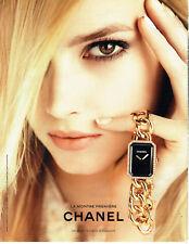 Publicité Advertising 127  2013  Chanel  montre Première or & diamants