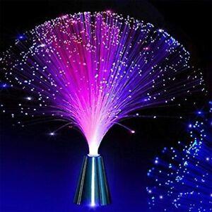 LED Fibre Optic Lamp Sensory Colour Changing Colorful Crystal Light Home Decor