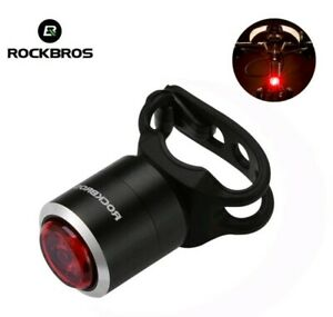 ROCKBROS Bicyle Tail Light IPX5 Waterproof Warning Lamp With USB Rechargeable