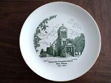 Immaculate Conception Church Ohio,Illinois Ceramic Plate 1875-1975