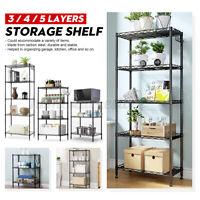 3/4/5 Tier Steel Wire Shelving Unit Metal Rack Home Kitchen Storage Shelf Holder