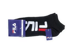 FILA Sneakersocken Logo 2er-Pack Black, Socken, Tennissocken, Sportsocken