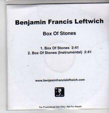 (CP895) Benjamin Francis Leftwich, Box of Stones - 2011 DJ CD